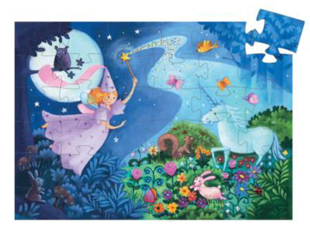Picture of The Fairy and the Unicorn Silhouette 36-piece Jigsaw