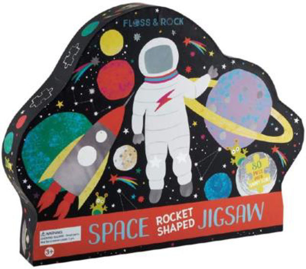 Picture of Space Rocket 80-piece Jigsaw