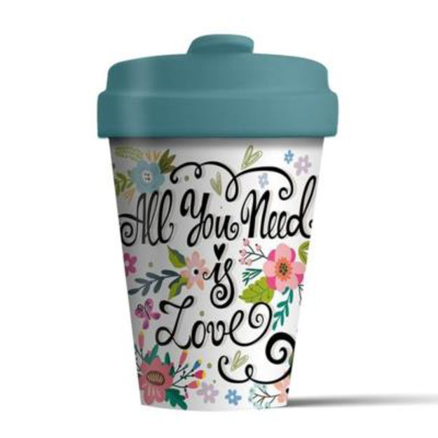 Picture of All you need is Love Bamboo Coffee Cup