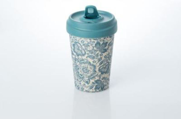 Picture of Blue Flowers Bamboo Keepcup