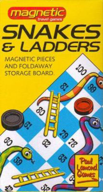 Picture of SNAKES AND LADDERS MAGNETIC TRAVEL GAME